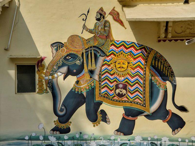 Perspectief over een olifant