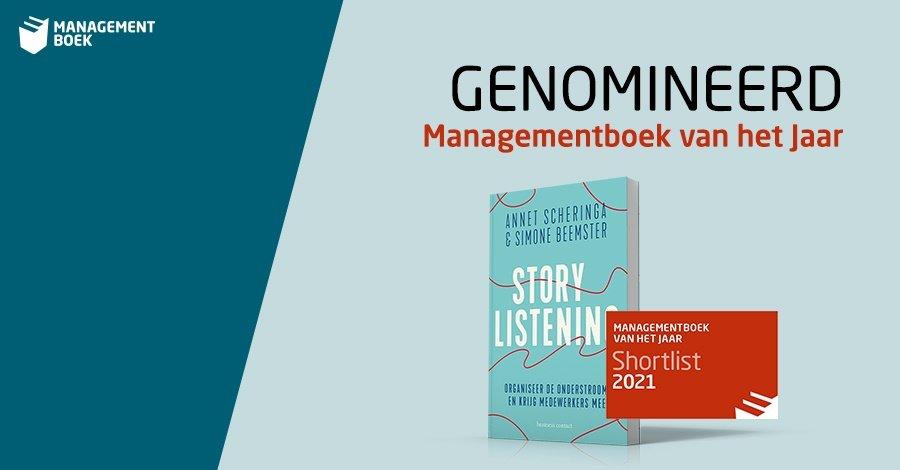 Storylistening genomineerd voor managementboek van het jaar